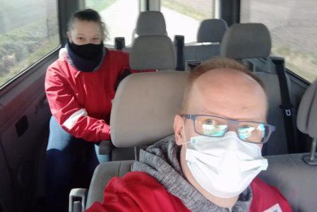 OSP Brodzica rozwoziła maski dla mieszkańców Brodzicy, Obrowca i Wolicy